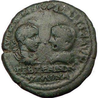 GORDIAN III & TRANQUILLINA Mesembria Rare Ancient Roman Coin Apollo w