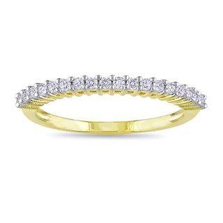 Miadora Yellow Rhodium Plating Over Silver 1/5ct TDW Diamond