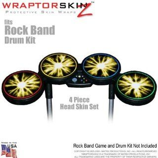 Lightning Yellow Skin by WraptorSkinz fits Rock Band Drum