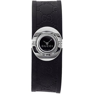 Gucci Womens Stainless Steel Black Twirl Watch
