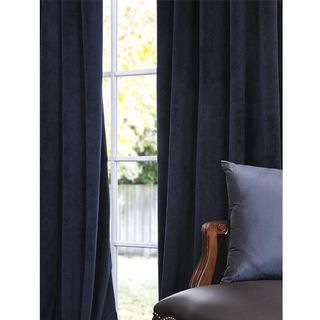 Signature Midnight Blue Velvet 84 inch Blackout Curtain Panel