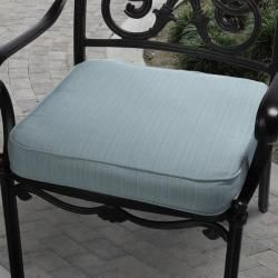 Clara Outdoor Light Blue Cushion Made with Sunbrella