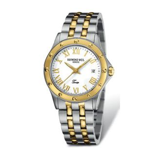 Raymond Weil Mens Tango Stainless Steel and Goldtone Watch