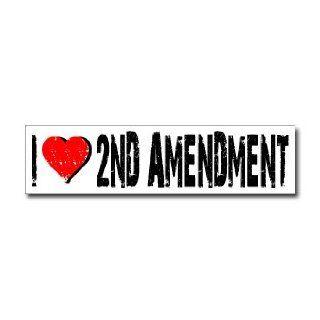 Love 2nd Amendment   Window Bumper Sticker    Automotive