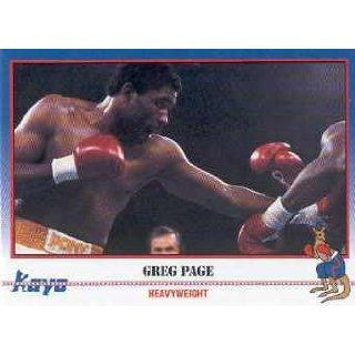 1991 Kayo Boxing #138 Greg Page Trading Card Collectibles