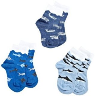 Jefferies Socks Boys 2 7 Ocean Triple Treat 3 Pack Socks