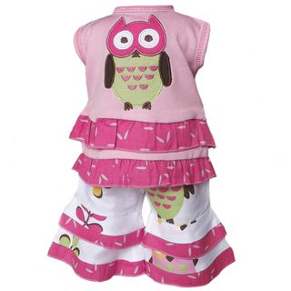 AnnLoren Owl and Polka Dot 2 piece Outfit for 18 inch Dolls