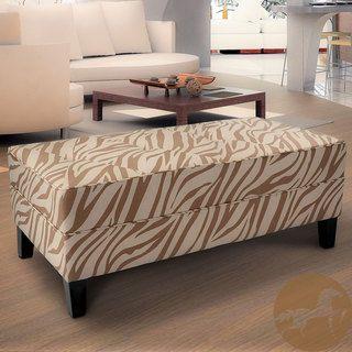 Christopher Knight Home Cheshire Zebra Fabric Bench Ottoman