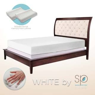 WHITE by Sarah Peyton 10 inch Traditional Plush Support Memory Foam