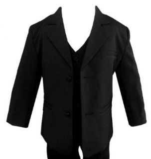 Wedding Formal Boy Black Suit Sizes Baby to Teen Clothing
