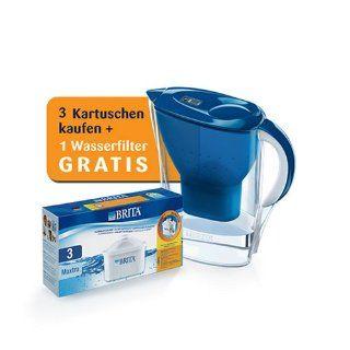 Brita Maxtra Pack 3 + 1 Wasserfilter Marella Cool blau GRATIS
