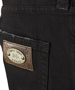 Dolce & Gabbana Mens Black Denim Jeans with Logo
