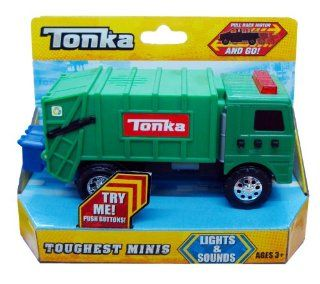 Tonka Toughest Minis Green Garbage Truck   Lights & Sounds