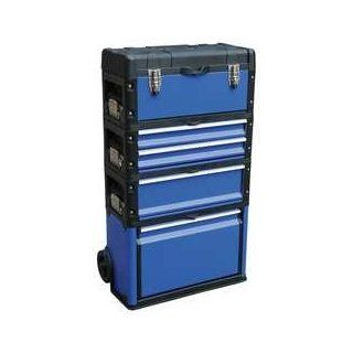 Westward 13T138 Tool Box, 5 Dia Wheels, 8000 cu. in., Blue: