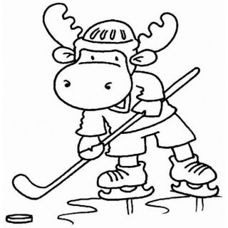 Riley And Company Hockey Riley Cling Rubber Stamp