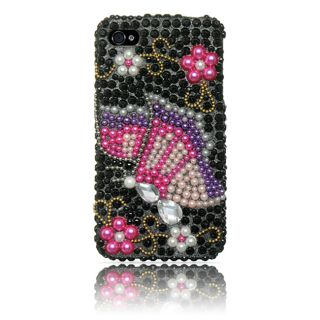 Luxmo Rainbow Butterfly Rhinestone Protector Case for iPhone 4 / 4S