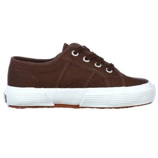 Superga Childrens 2750 J Classic Brown Lace up Shoes