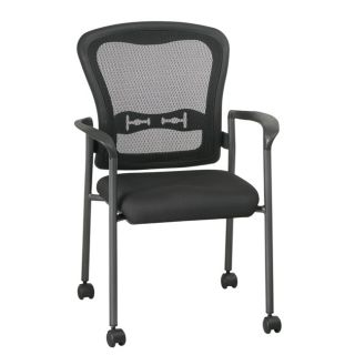 Office Star Visitors Arms and Casters Titanium Stacking Chair Today $