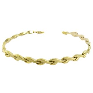 10k Yellow Gold Wishbone Link Bracelet