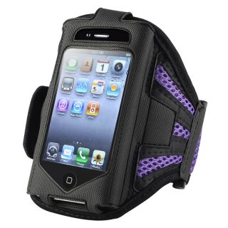 Black/ Purple Armband for Apple iPhone 2nd/ 3rd Generation