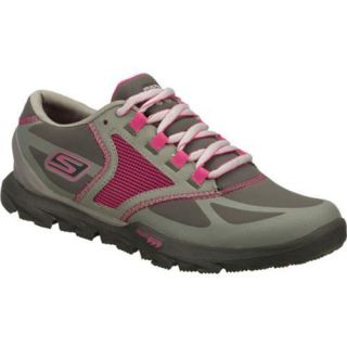Womens Skechers GOtrail All Weather Gray/Pink