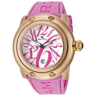 Glam Rock Womens Miami Pink Silicone Watch