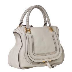 Chloe Marcie Large Grey Leather Shoulder Bag