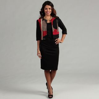 Danny & Nicole Womens Red/ Black 2 piece Dress