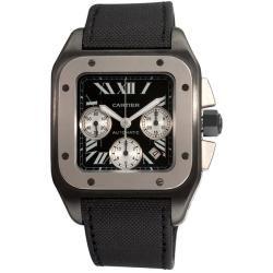 Cartier Mens Santos 100 Titanium Chronograph Watch