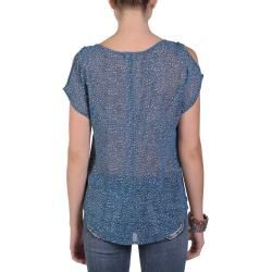 by Hailey Jeans Co. Womens Short sleeve Printed V neck Top