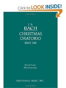 Christmas Oratorio, BWV 248   Vocal score (German Edition): Johann