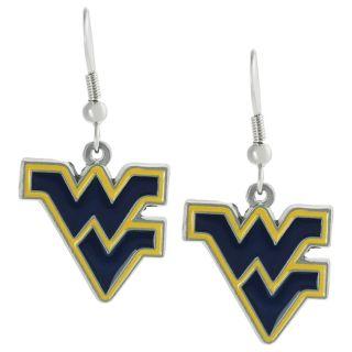 Silvertone West Virginia University Dangle Earrings