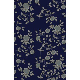 Impressions Modern Navy Floral Rug (33 x 411)