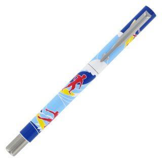 Parker Vector Adrenaline Surf Chrome Trim Rollerball Pen Today $7.99