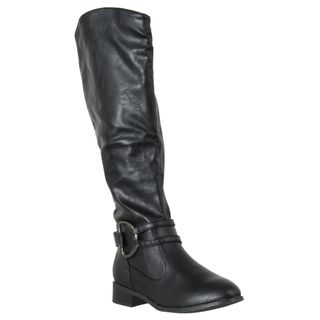 Riverberry Womens Asiana Black Knee high Boots