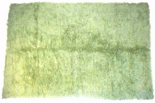 Greek Flokati Lime Green Wool Shag Rug (411 x 711)