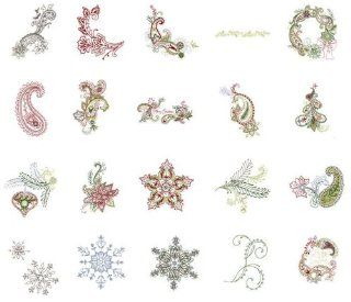 OESD Embroidery Machine Designs CD PAISLEY CHRISTMAS Home