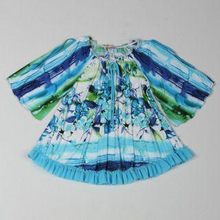 Paulinie Collection Girls Flower Printed Dress