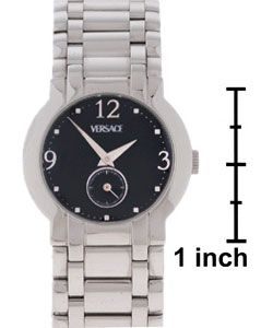 Versace Womens Stainless Steel Black Dial Madison Watch