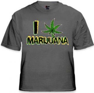 Pothead & Stoner Tees   I Love Marijuana T Shirt #249 Clothing