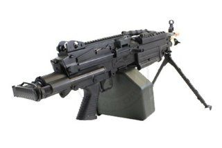 Full Metal M249 Para Airsoft Machine Gun Sports