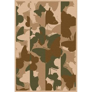 Alexa Austin Butterfly Camouflage Green/ Beige Rug (53 x 79