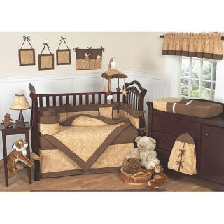 Sweet Jojo Designs Camel Brown Paisley 9 piece Crib Bedding Set