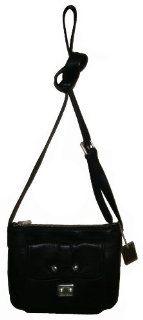 Ralph Lauren Stockbridge Tum Small Crossbody Handbag (Black) Shoes
