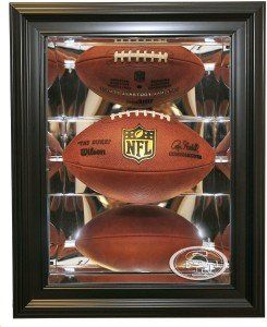 San Francisco 49ers Football Shadow Box Display, Black