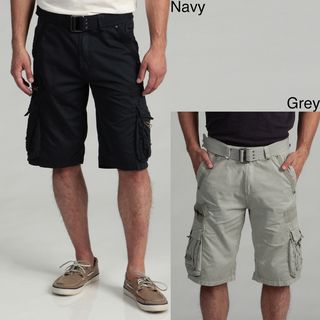 Request Jeans Mens Belted Cargo Shorts