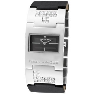 Ted Lapidus Womens Black Leather Watch