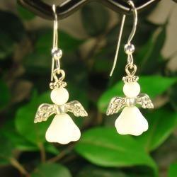 Jewelry by Dawn Sterling Silver Angel Earrings