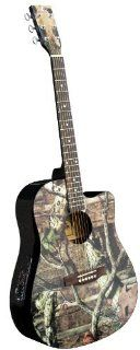 Mossy Oak Camo Acoustic Electric Guitar: Musical