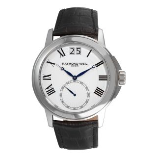 Raymond Weil Mens Traditional Leather Strap Watch